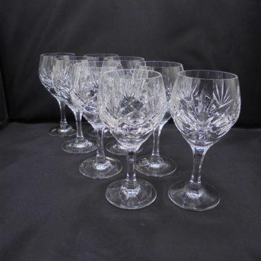 verres à pied en cristal