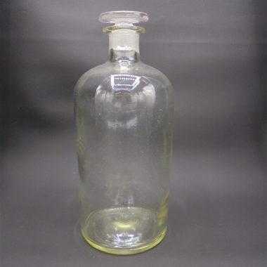 ancien flacon d apothicaire verre transparent