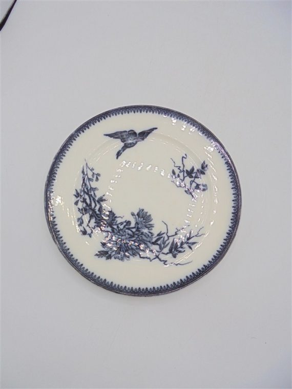 assiette ceramique ancienne bleu