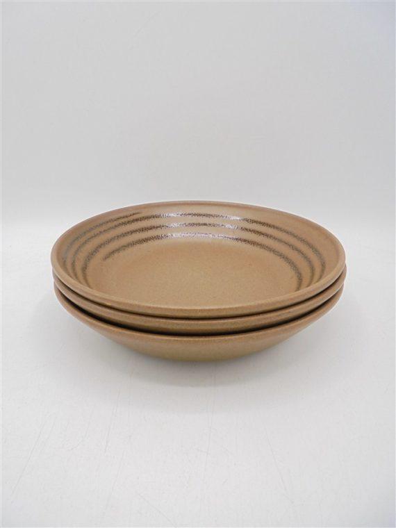 assiettes anciennes gres sarreguemines marrons
