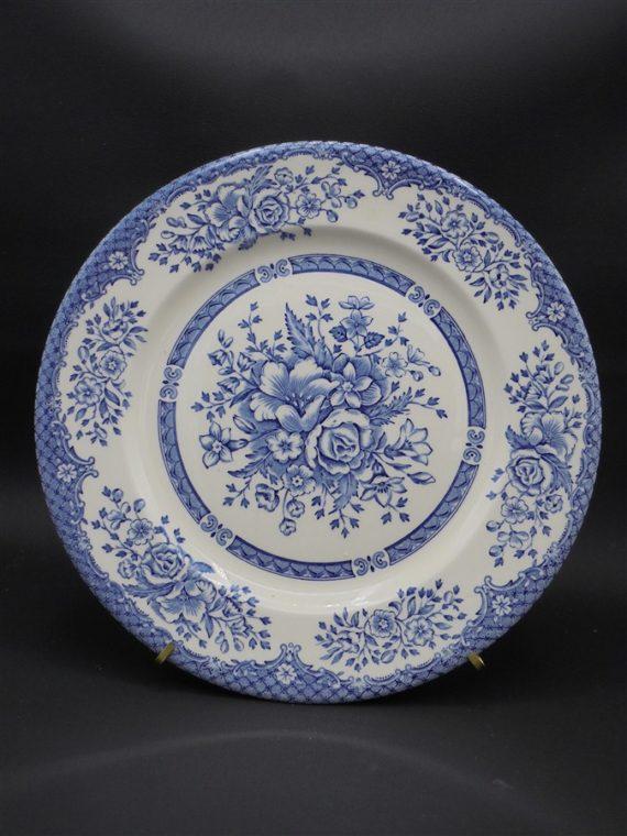 assiette ceramique ancienne bleu anglaise england