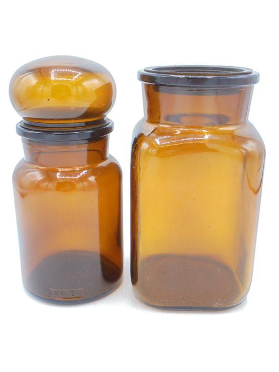vintage bocaux bruns ambres