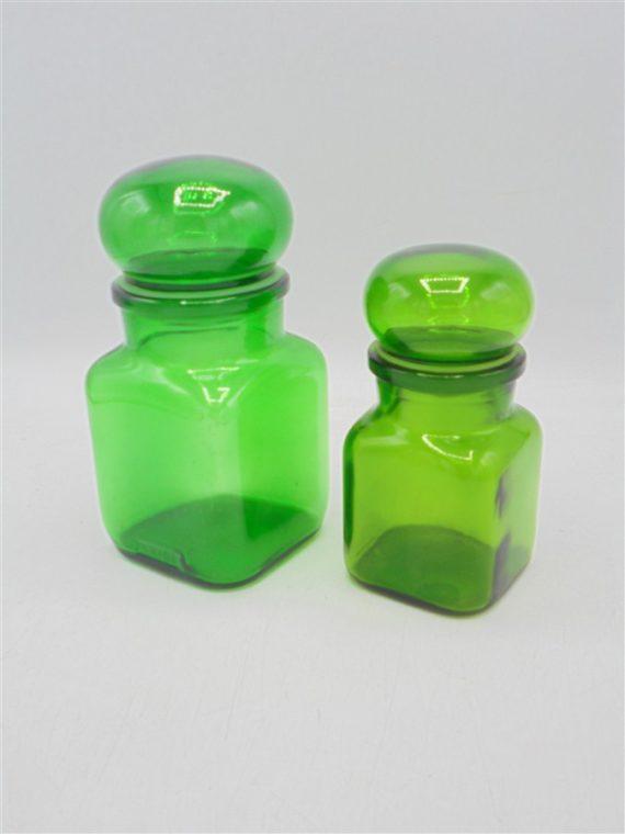 vintage bocaux verts