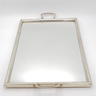 plateau ancien miroir glace contour metal