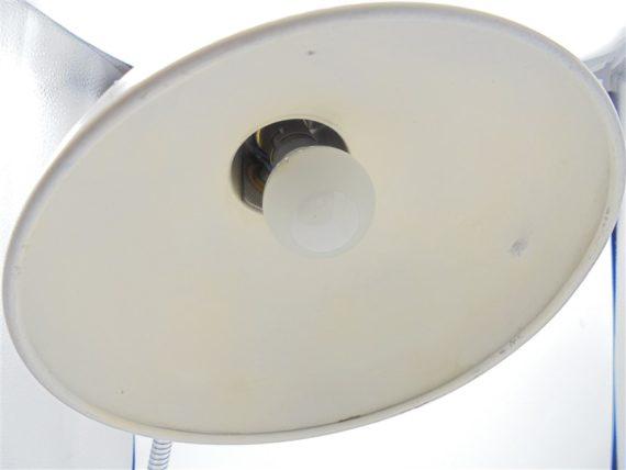 lampe vintage de bureau orientable metal gris clair