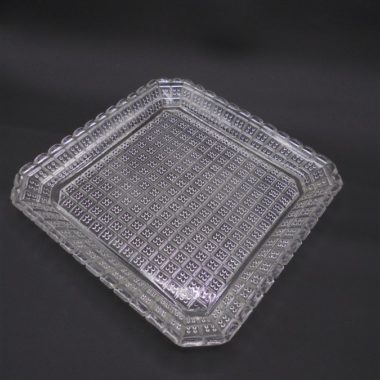 plat coupelle vide poche cendrier ancienne verre transparent