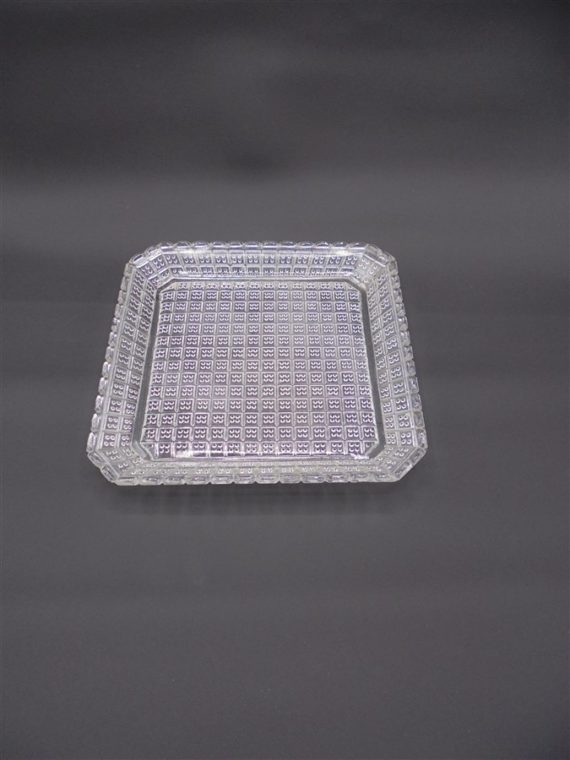 plat coupelle vide poche cendrier ancienne verre transparent