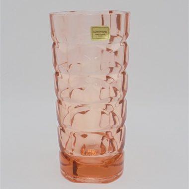ancien petit vase verre rose