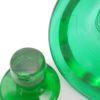 carafe ou flacon vintage art deco en verre vert et or