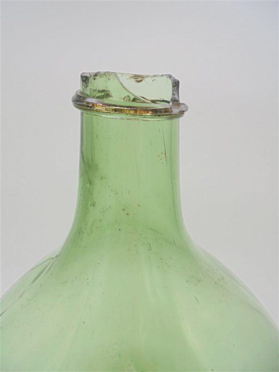 dame jeanne bonbonne en verre verte12 litres deco parisienne