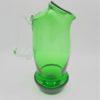 pichet broc pot a eau orangeade vintage verre vert
