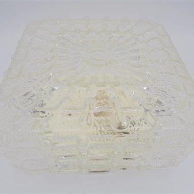 plafonnier vintage verre carre