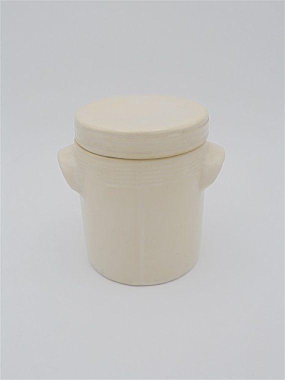 pot ceramique ancien couvercle cornichon