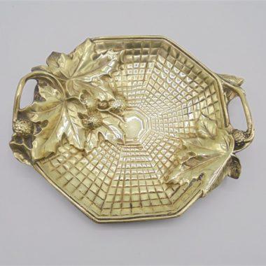 vide poche coupelle bronze dore laiton marionnet bouny art nouveau