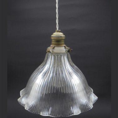 ancienne suspension holophane verre