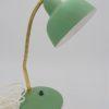 lampe de bureau vintage vert granite laiton dore