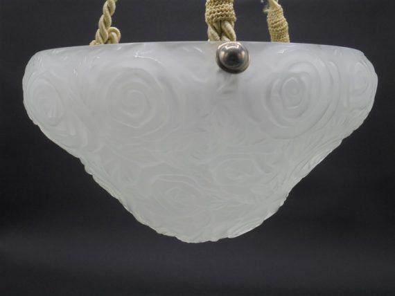 luminaire ancien lampe suspension vasque fleur roses