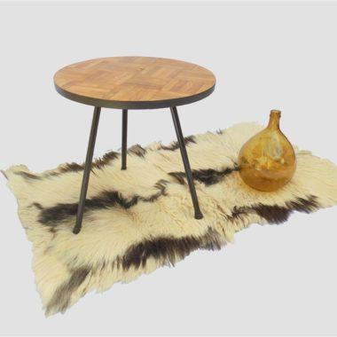 peau de chevre table tripode dame jeanne ambree ambiance scandinave