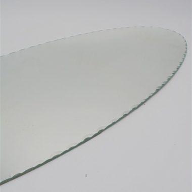 ancien plateau miroir glace ovale bords biseautes