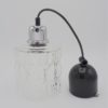 suspension verre vintage cylindrique