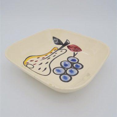 ancienne coupelle fruits ceramique decoree