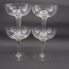 anciennes coupes a champagne verre decor cisele