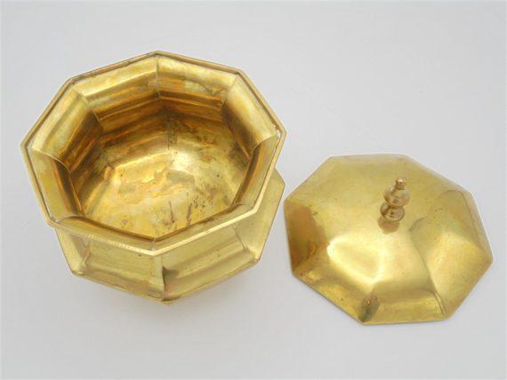 bonbonniere ancienne laiton dore