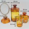 ensemble d accessoires de salle de bain toilette verre ambre