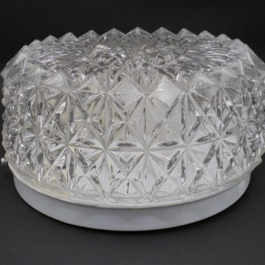 plafonnier applique lumia rond verre diamants