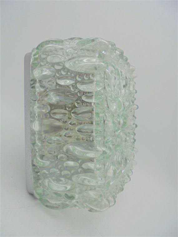 plafonnier vintage luminaire applique limburg allemand carre verre selection brocante