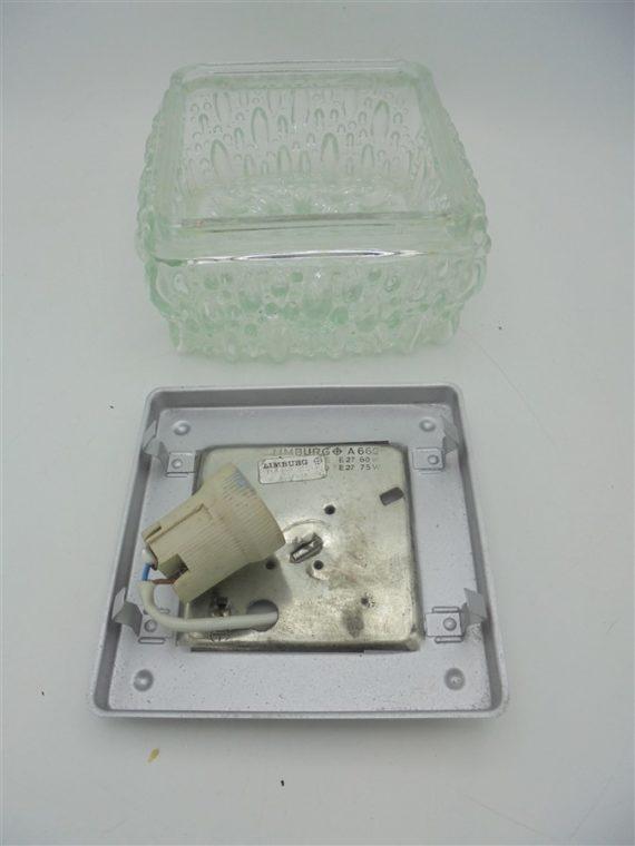 plafonnier vintage luminaire applique limburg allemand carre verre