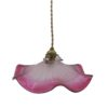 suspension ancien luminaire vintage rose