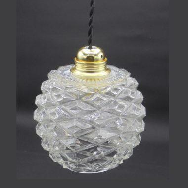 suspension vintage globe rond verre