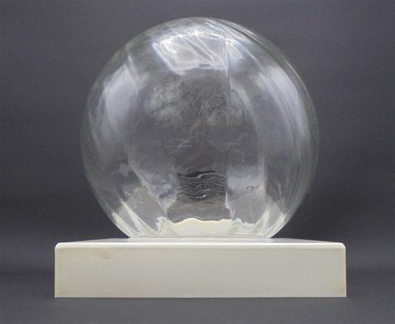 applique plafonnier vintage globe en verre socle bakelite