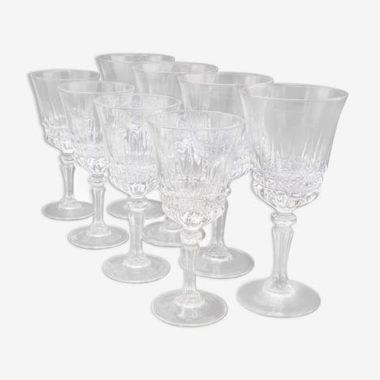 serie ensemble service 8 verres a pied eau et vin