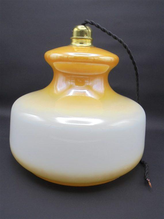suspension vintage verre orange irise