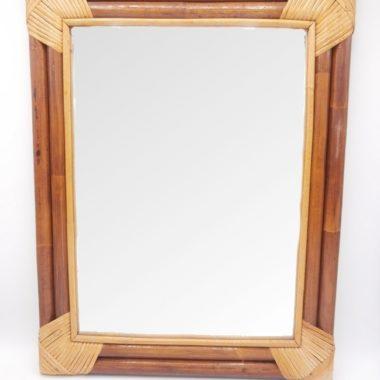 miroir bois et osier