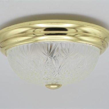 plafonnier applique verre dore