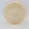 applique ou plafonnier vintage deco retro verre or irise orange