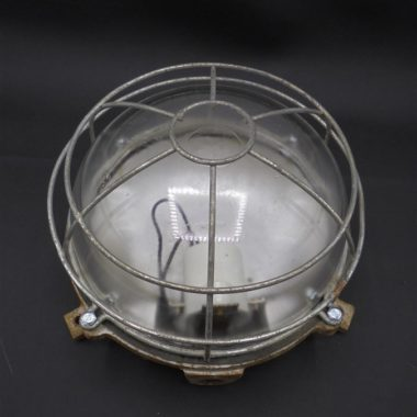 ancienne applique vintage industrielle globe verre france
