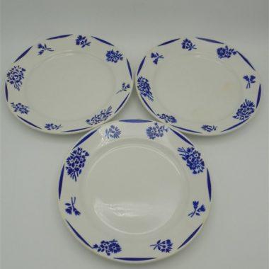 anciennes assiettes luneville fleurs bleues
