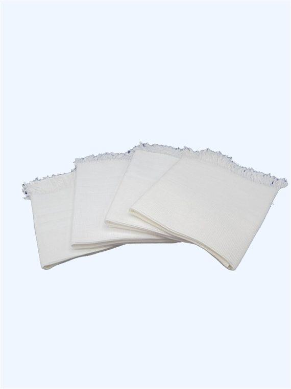 anciennes serviettes toilette coton nid d abeille franges