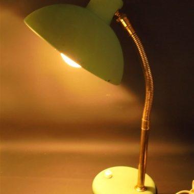 lampe cocotte de bureau vintage verte flexible laiton orientable