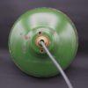 suspension vintage industrielle en tole emaillee verte