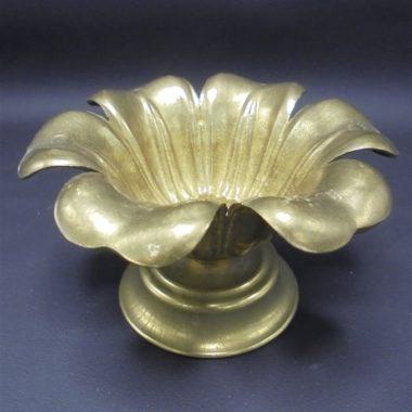 vide poche cendrier en laiton en forme de fleur