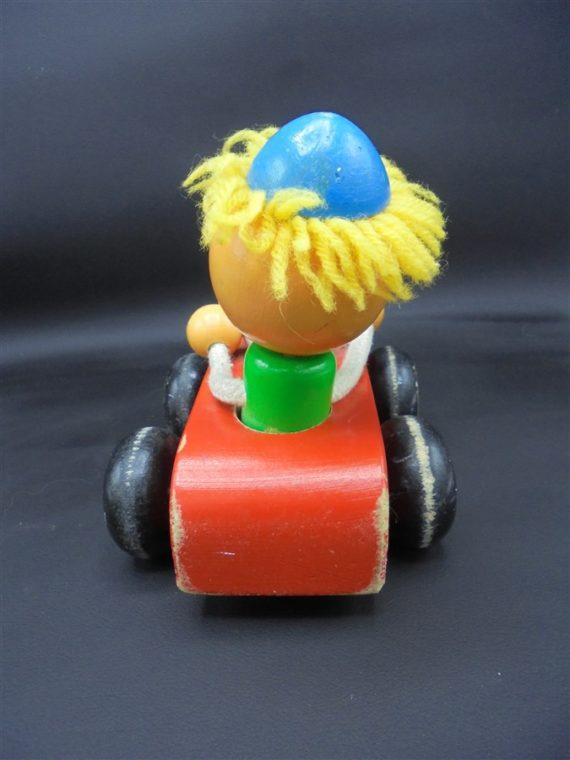 jouet bois clown voiture dodeline tete
