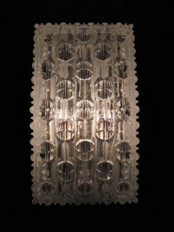 ancienne applique murale vintage verre rectangle luminaire