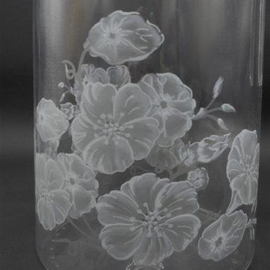 pichet broc pot a eau verre decor floral