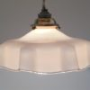 suspension vintage opaline rose pale lampe retro