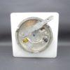 applique murale plafonnier luminaire lampe verre opale opaline blanc carre